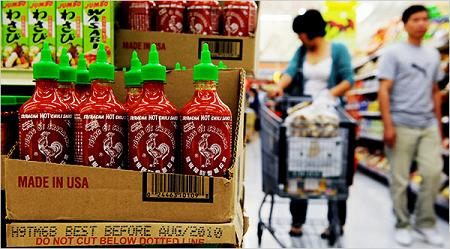 Sriracha photo by Robert Yager for The New York Times